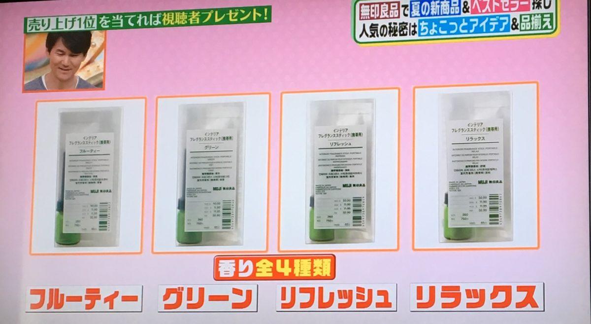 香りが4種類
