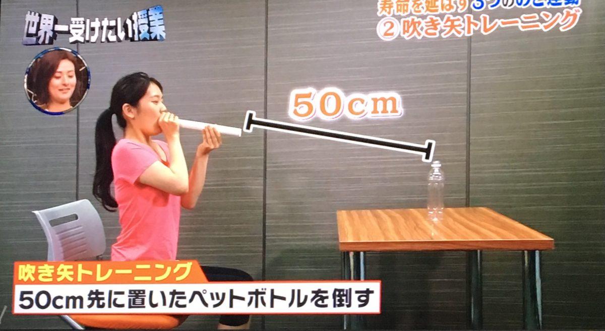 吹き矢トレーニング