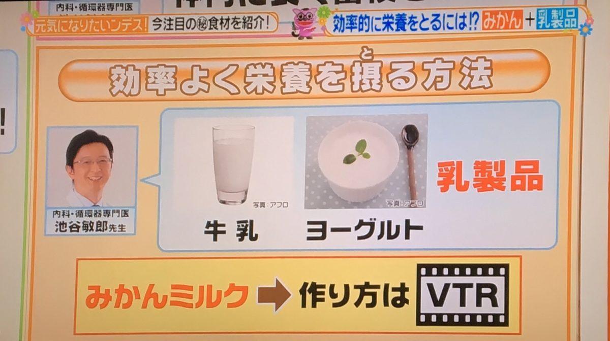 みかんミルク