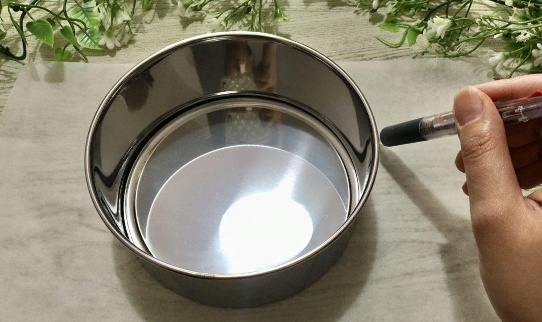 豆腐ガトーショコラの作り方(工程5-1)