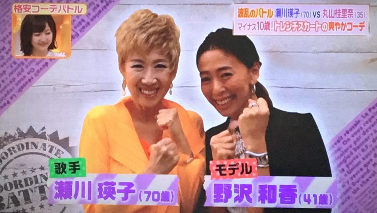 瀬川瑛子と野沢和香