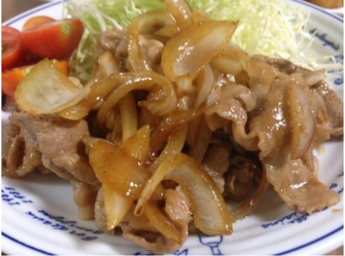 柿と豚肉の生姜焼き