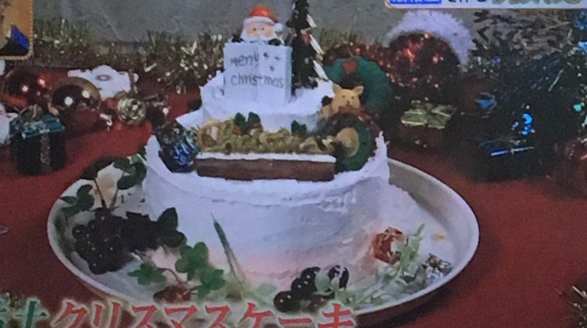 紙粘土クリスマスケーキ