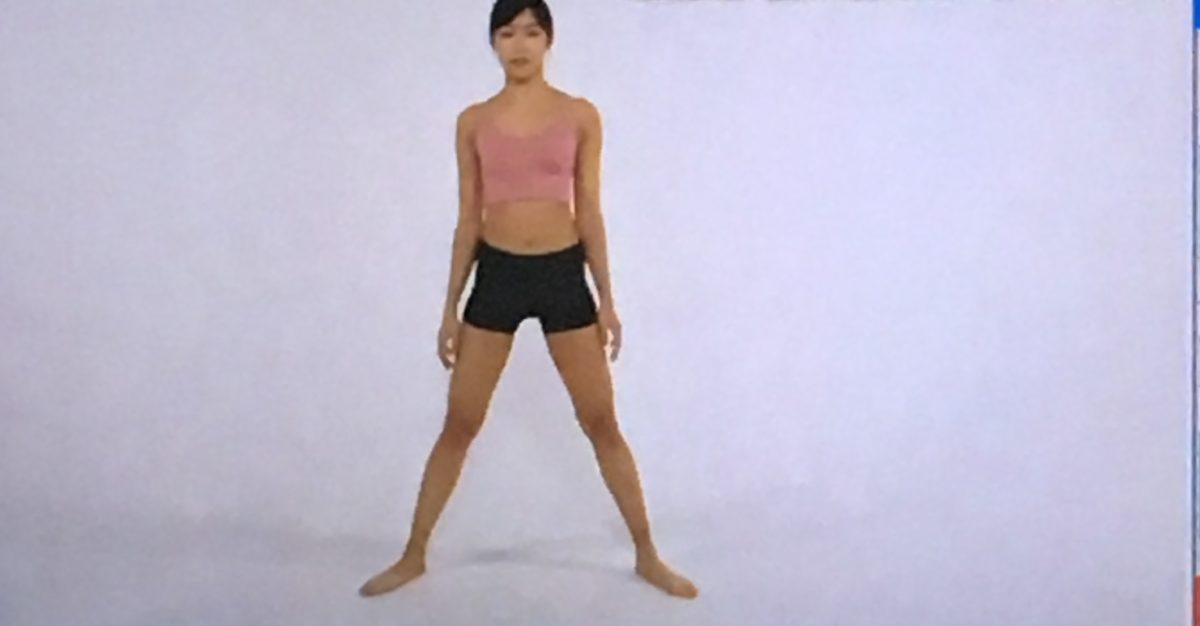 ひざ裏のばしのやり方(ワンツースリーストレッチ1)