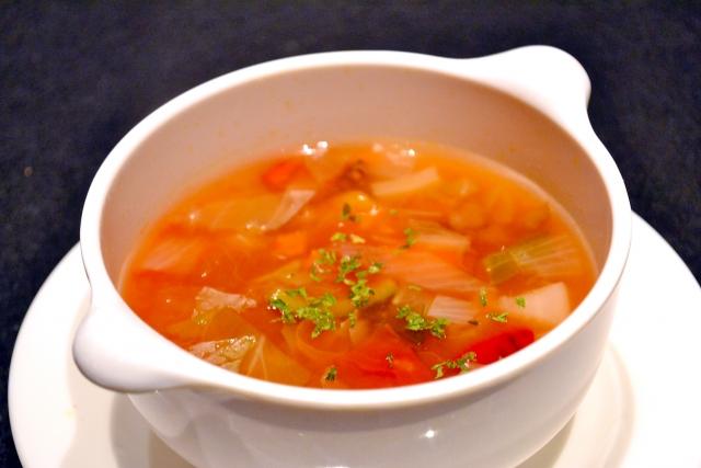 ミートソーススープ(ミネストローネ)のレシピ