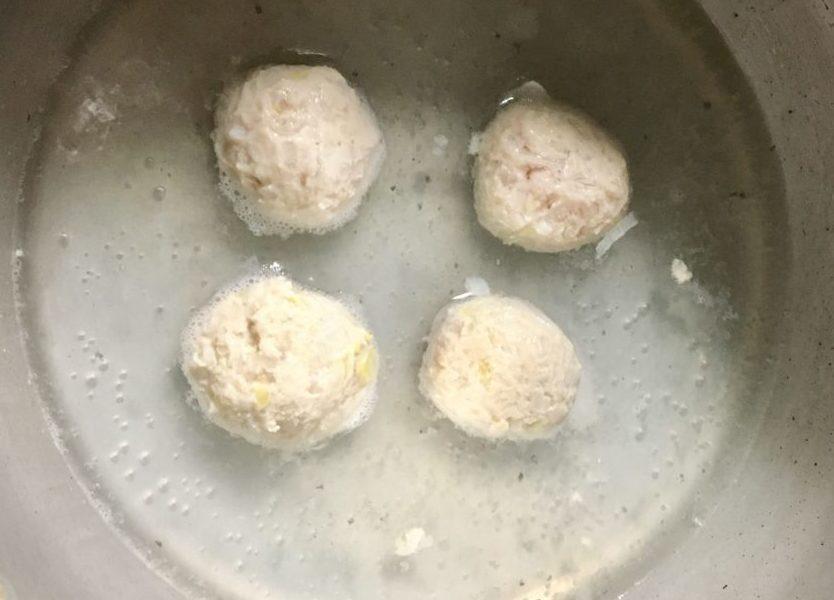 豆乳みそのお団子スープの作り方(工程3)