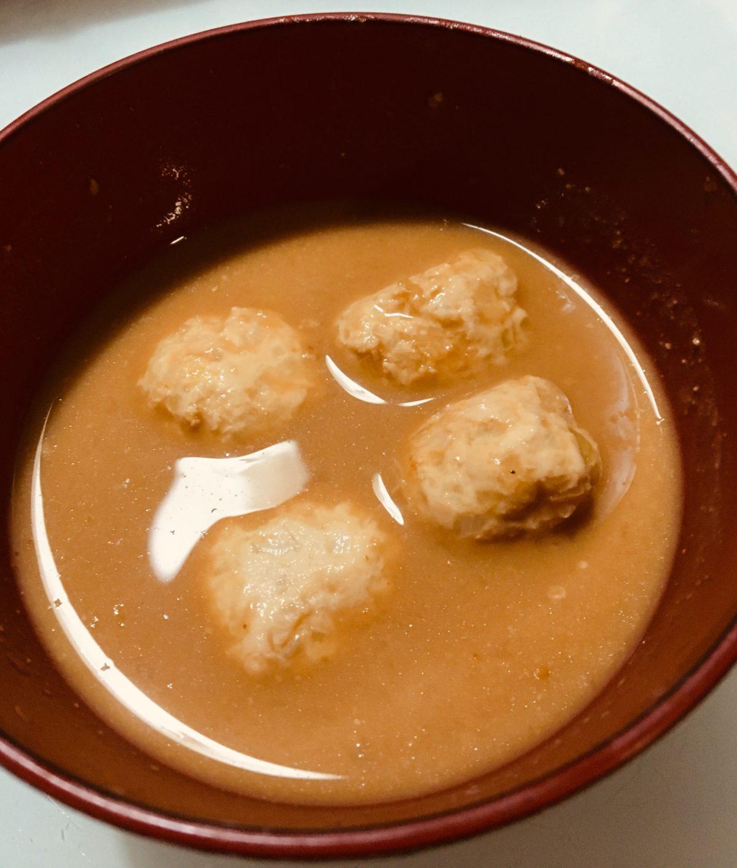 豆乳みそのお団子スープの作り方(工程6)