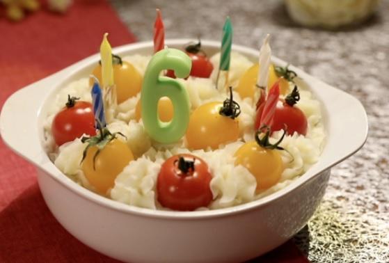 新じゃがの野菜ケーキ