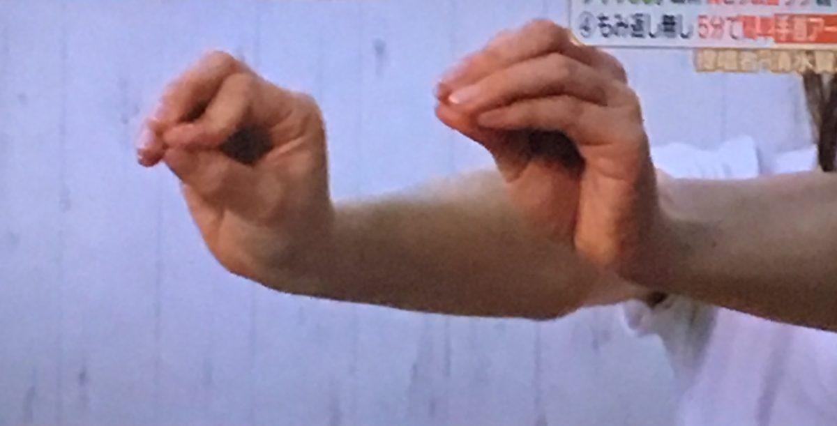 手首アーチ体操