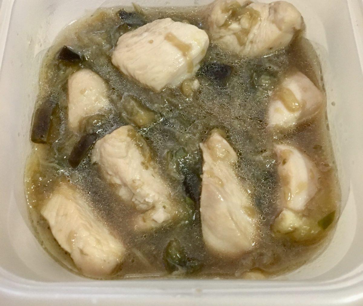 鶏むね肉とナスの万能つけだれ(工程6)