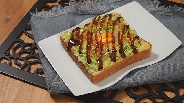 お好み焼きトースト