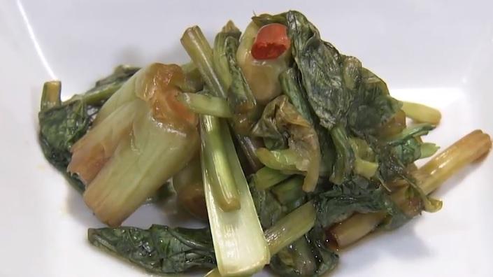 小松菜の醤油漬け