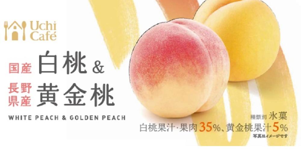 日本のフルーツ国産白桃&長野県産黄金桃