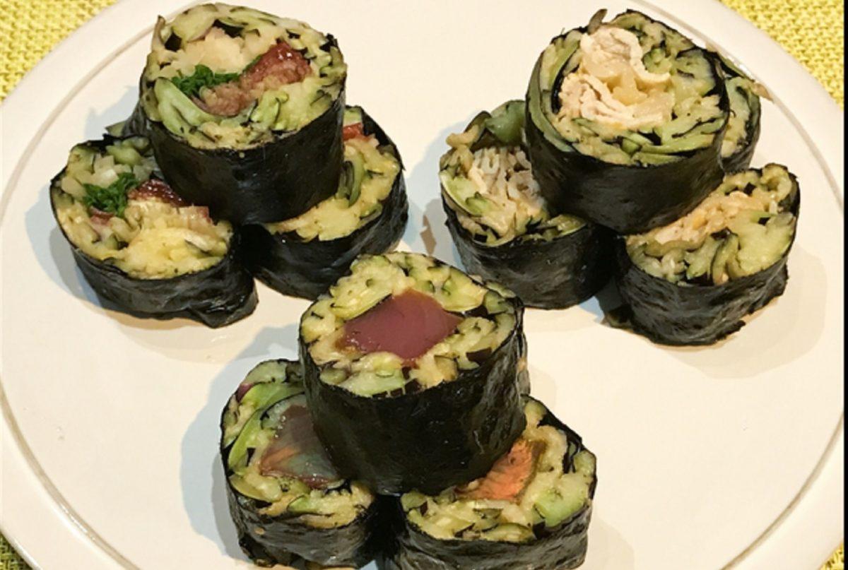 なすの手巻き寿司