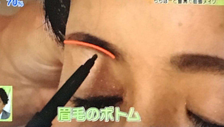 ピカ子の若返りメイク(眉毛)