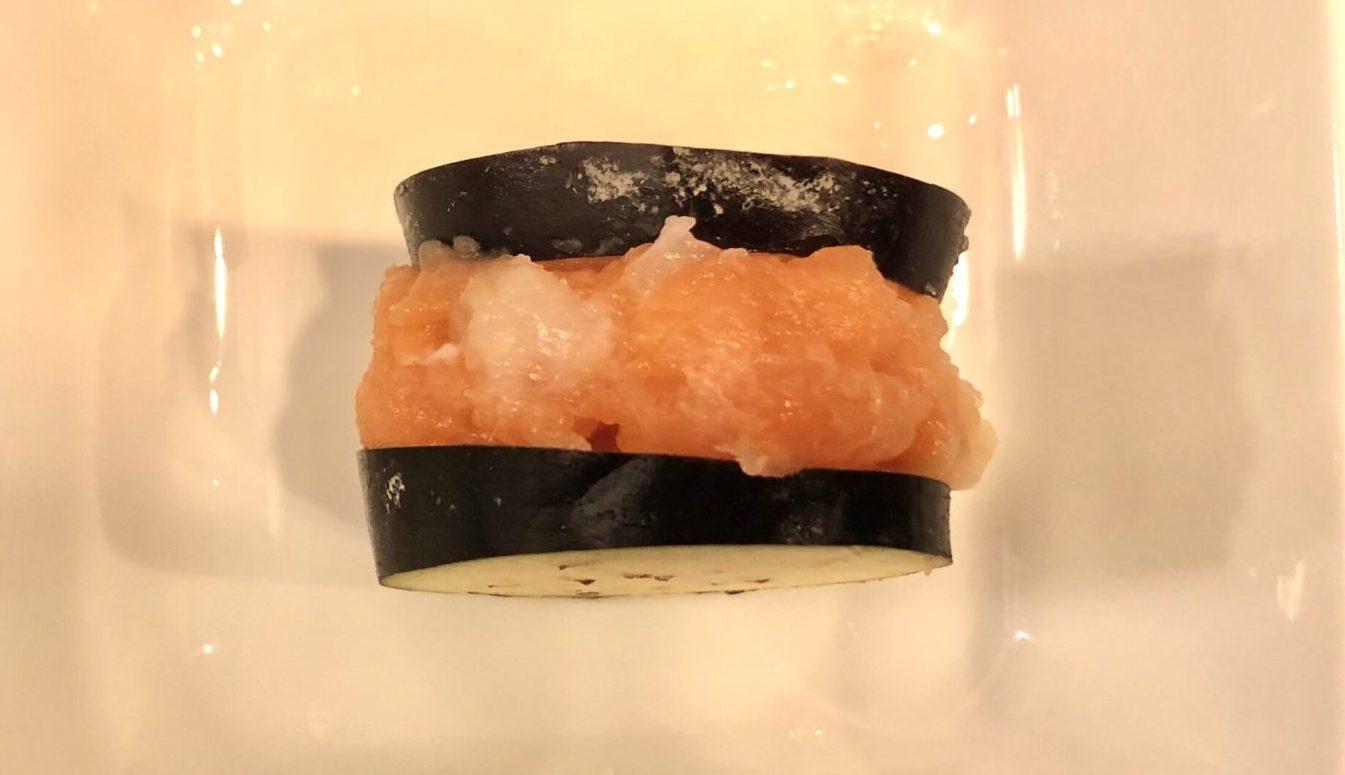 ナスのホタテ鮭サンドの作り方(工程4)
