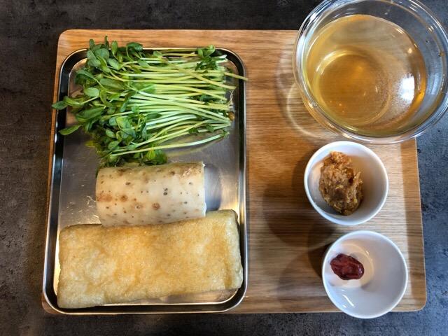 長芋のおかず味噌汁の材料