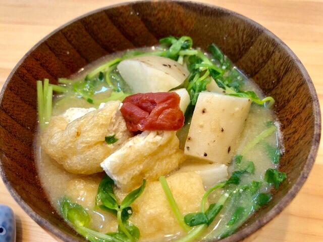 長芋のおかず味噌汁