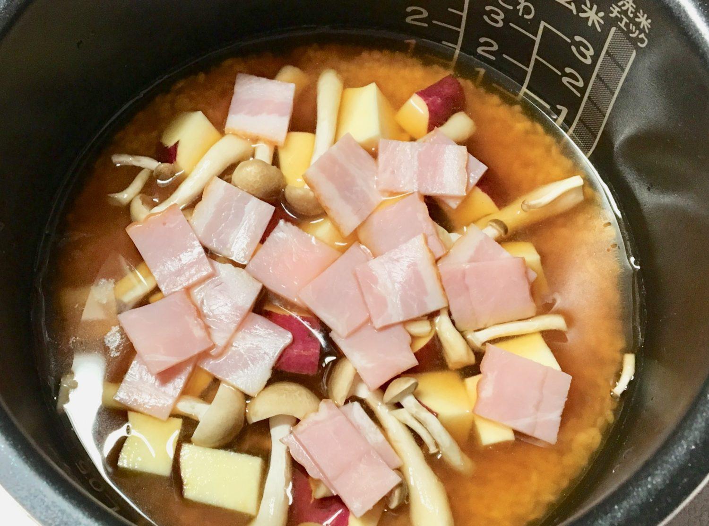 さつまいもの炊き込みご飯の作り方(工程3)