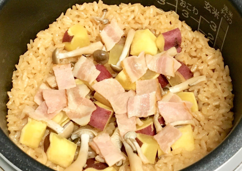 さつまいもの炊き込みご飯の作り方(工程3-1)