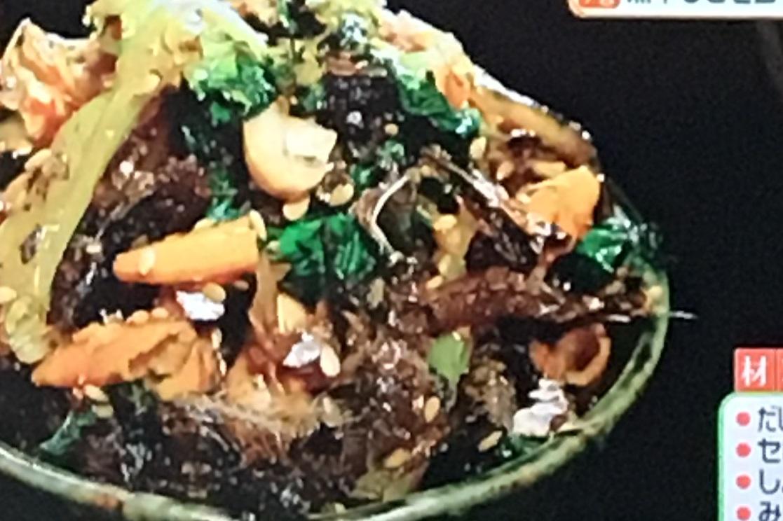 リメイクレシピの煮干しとセロリの佃煮風ふりかけ