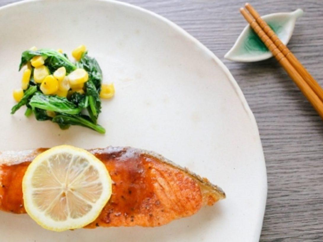 あさイチ!秋鮭と卵焼き甘酢あんかけ