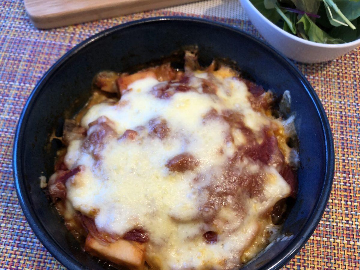 高野豆腐のトマトマカロニ風グラタン完成画像