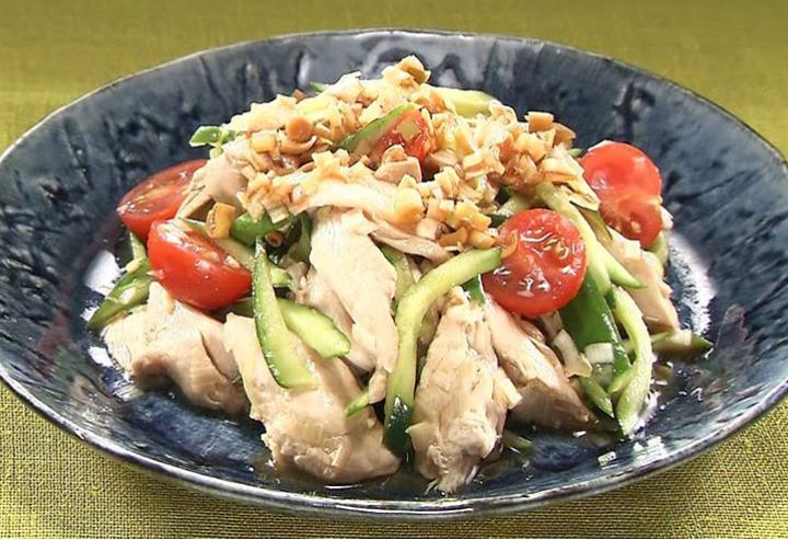 小倉優子の蒸し鶏の油淋鶏(ユーリンチー)ソースレシピ
