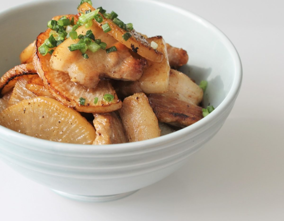 あさイチの大根と豚バラの醤油煮