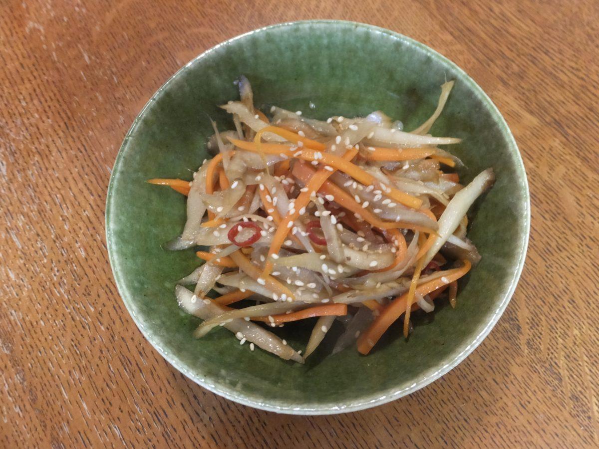スッキリの菊芋(キクイモ)のきんぴら