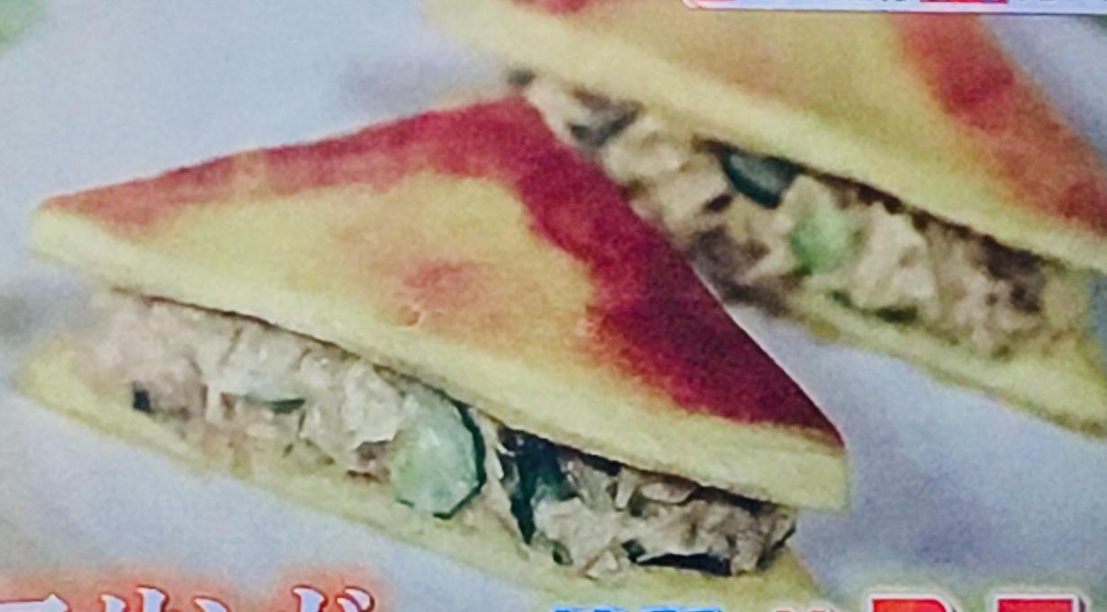高野豆腐の鮭マヨサンドイッチ