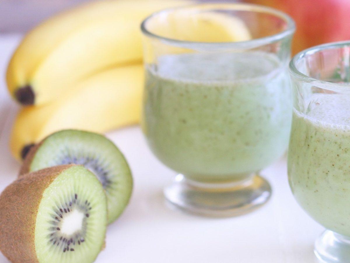 世界一受けたい授業のバナナとキウイのヨーグルトスムージーのレシピ