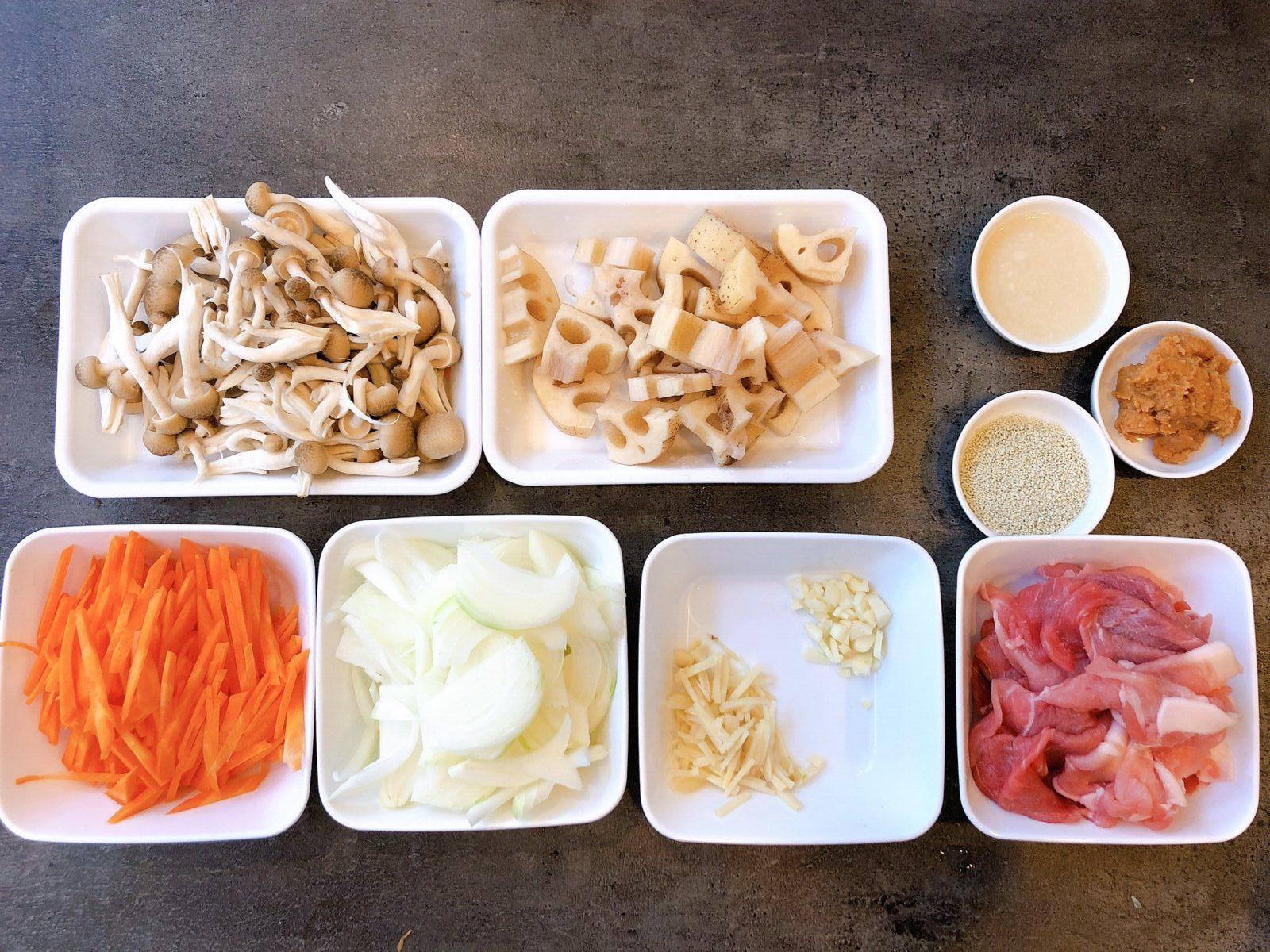 豚肉とレンコンの豆乳みそ美腸スープの作り方(工程1)
