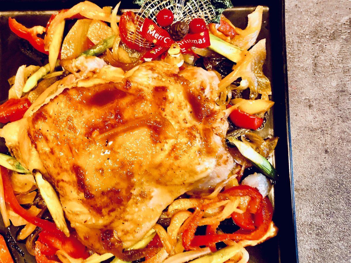野菜詰めグリルチキンのレシピ