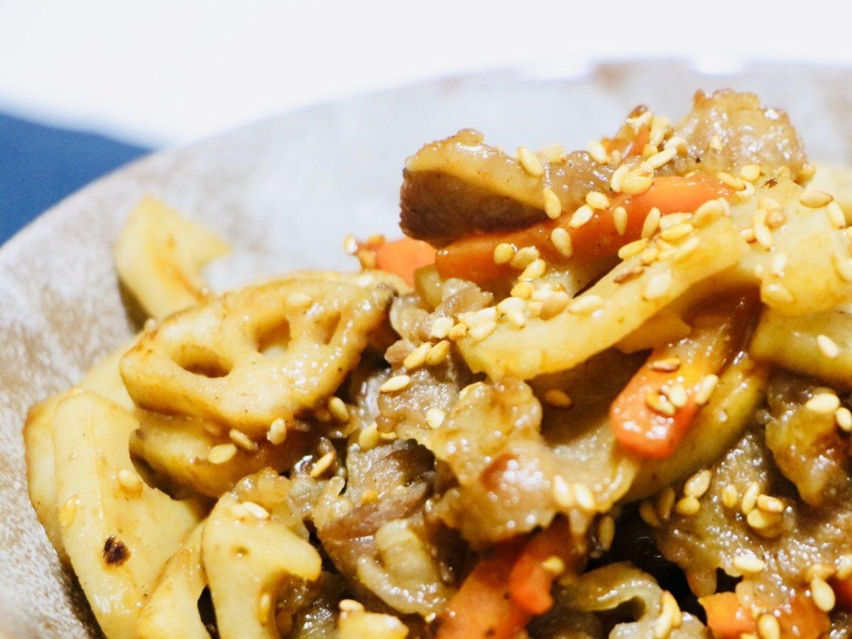 あさイチの牛ロースとれんこんの甘辛煮レシピ