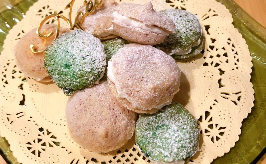 マカロン風メレンゲクッキーの完成画像