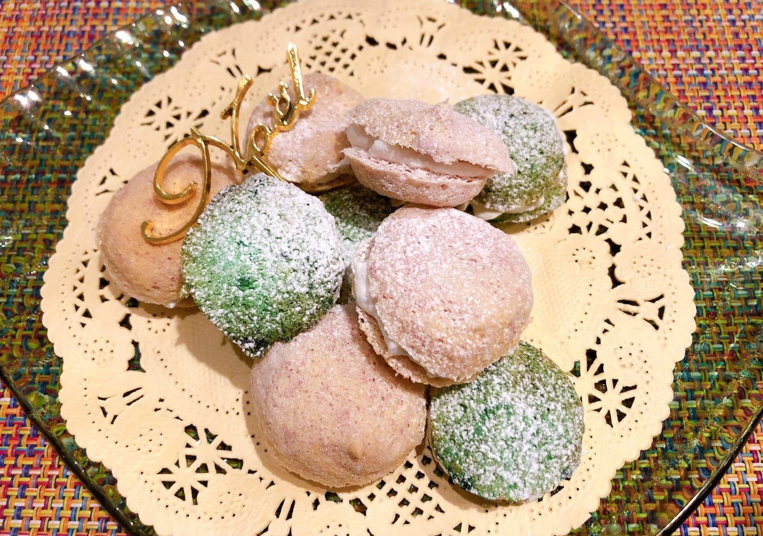 マカロン風メレンゲクッキー
