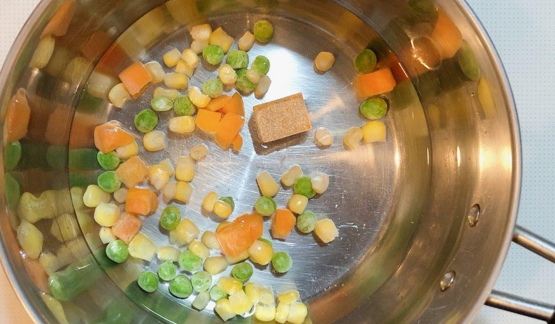 洋風チーズ茶碗蒸しの作り方(工程1)