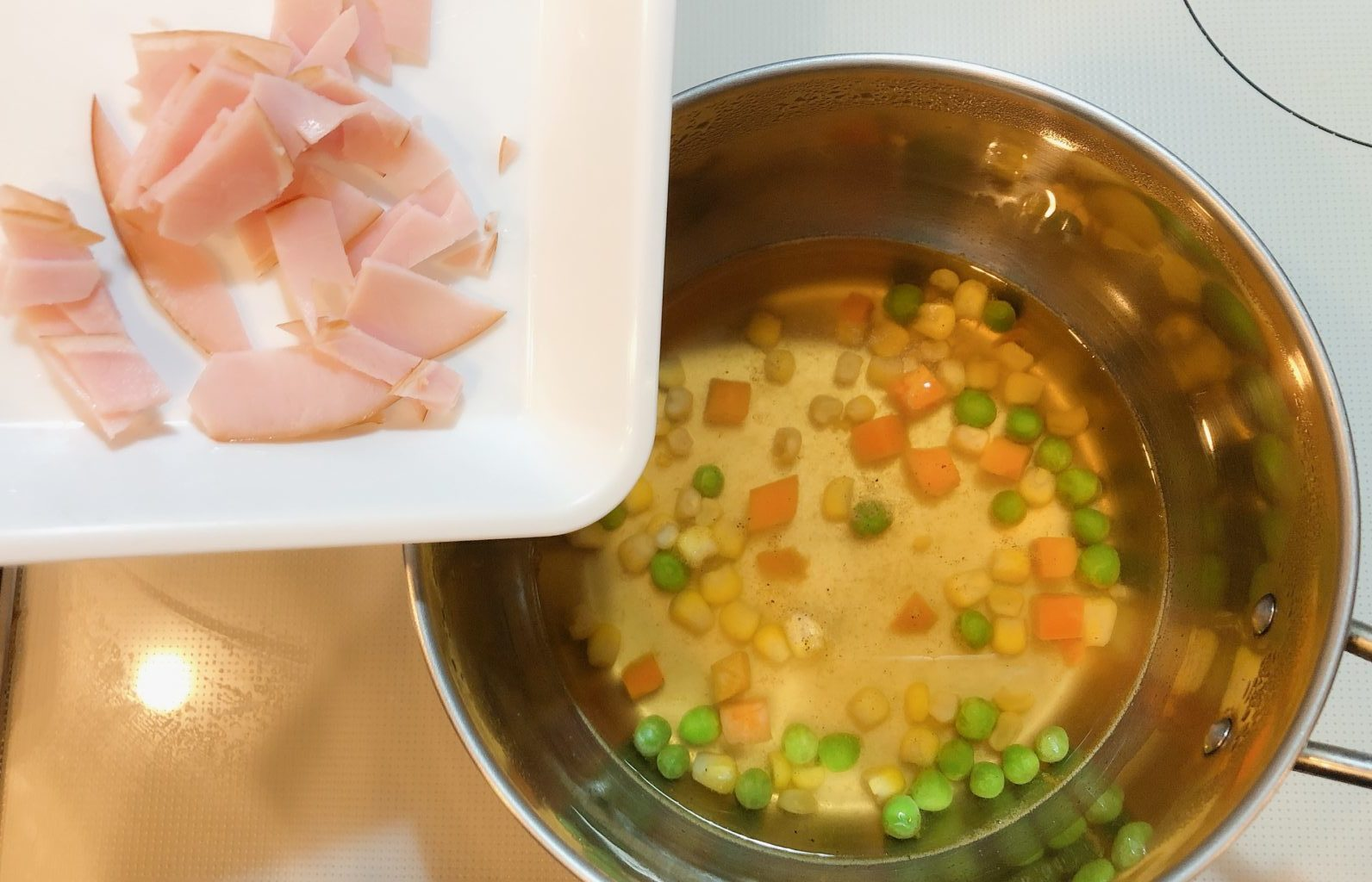 洋風チーズ茶碗蒸しの作り方(工程3)