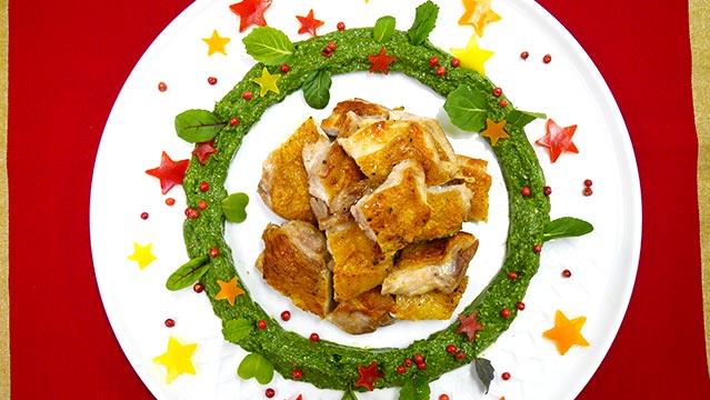 ごごナマのクリスマスリースチキンのレシピ