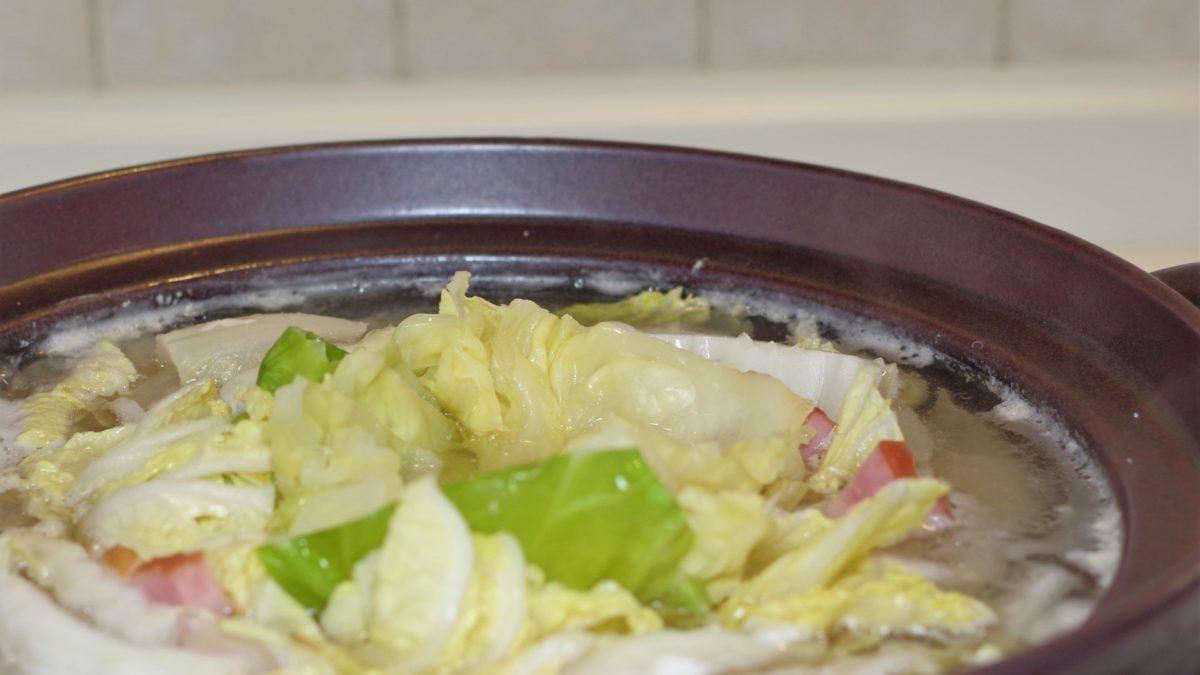 にじいろジーンのキャベツ豆乳鍋レシピ