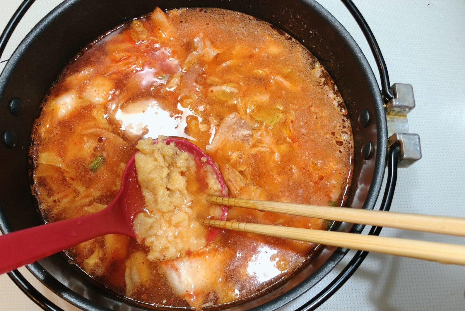 キムチ発酵鍋の作り方(工程2)