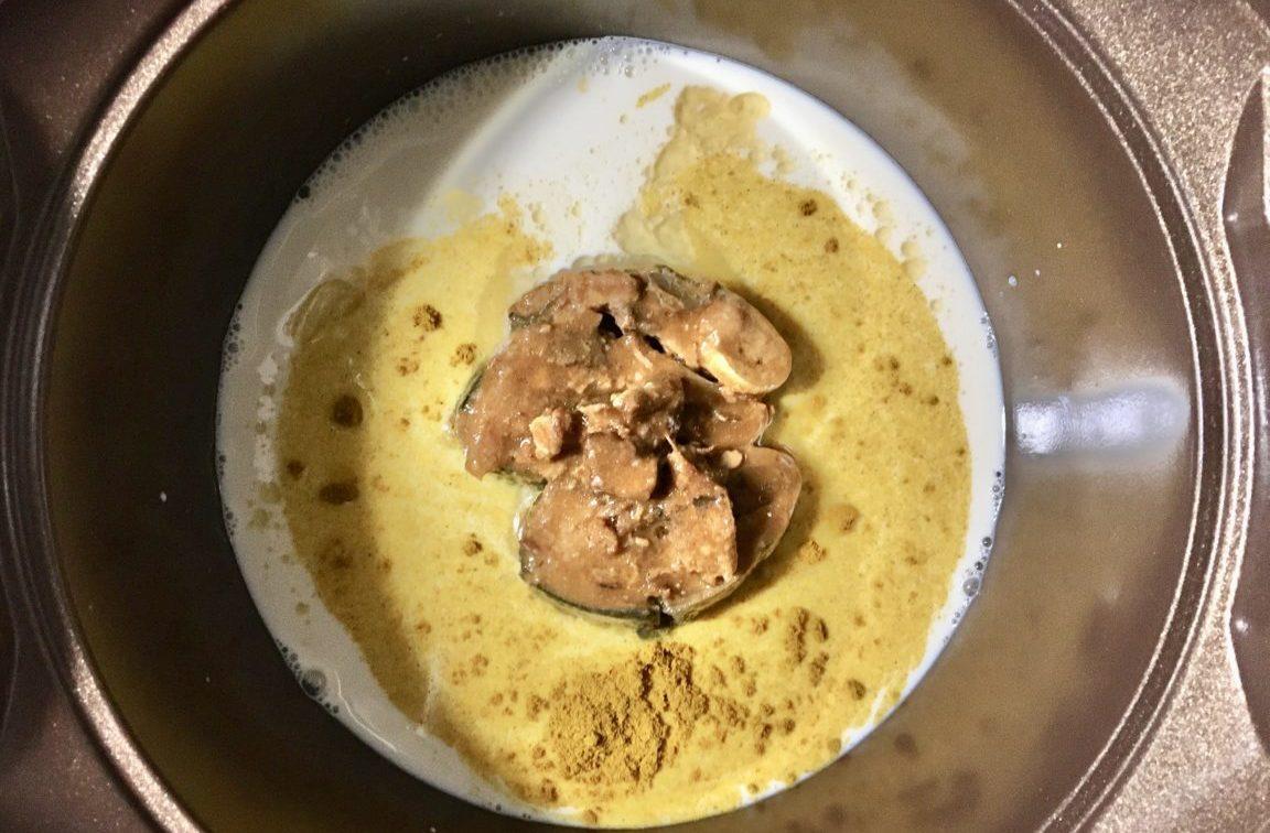 サバ味噌煮缶鍋の作り方(工程2)