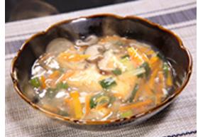 アサリのあんかけ豆腐ステーキ