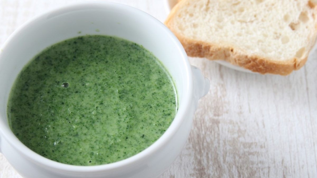 にじいろジーンの小松菜の茶碗蒸しレシピ