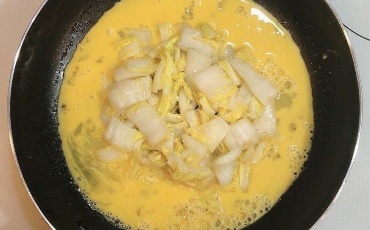 白菜の漬物ステーキの作り方(工程3)