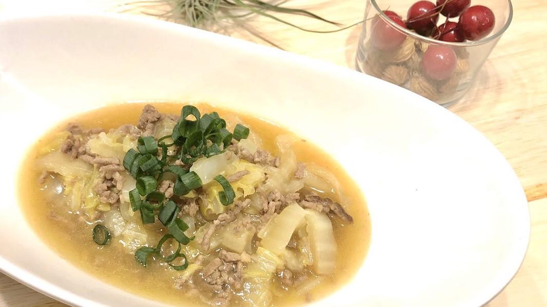 白菜とひき肉のとろみ煮