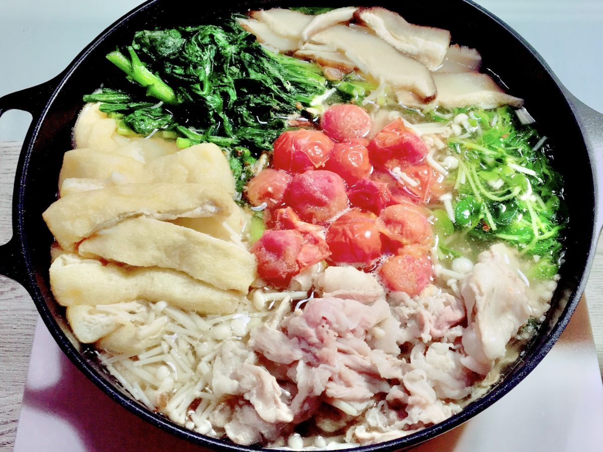 Atsushiの豚肉とトマトのビューティー鍋レシピ