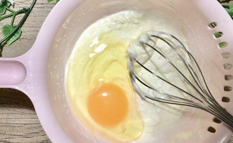 バスクチーズケーキトーストの作り方(工程1)