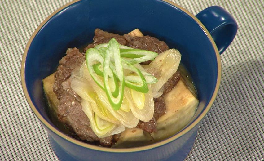 マグカップで作る肉豆腐